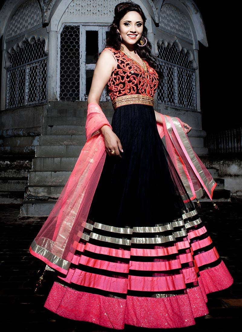 Floor Length Anarkali Frocks & Suits Collection 2016-2107 (2)