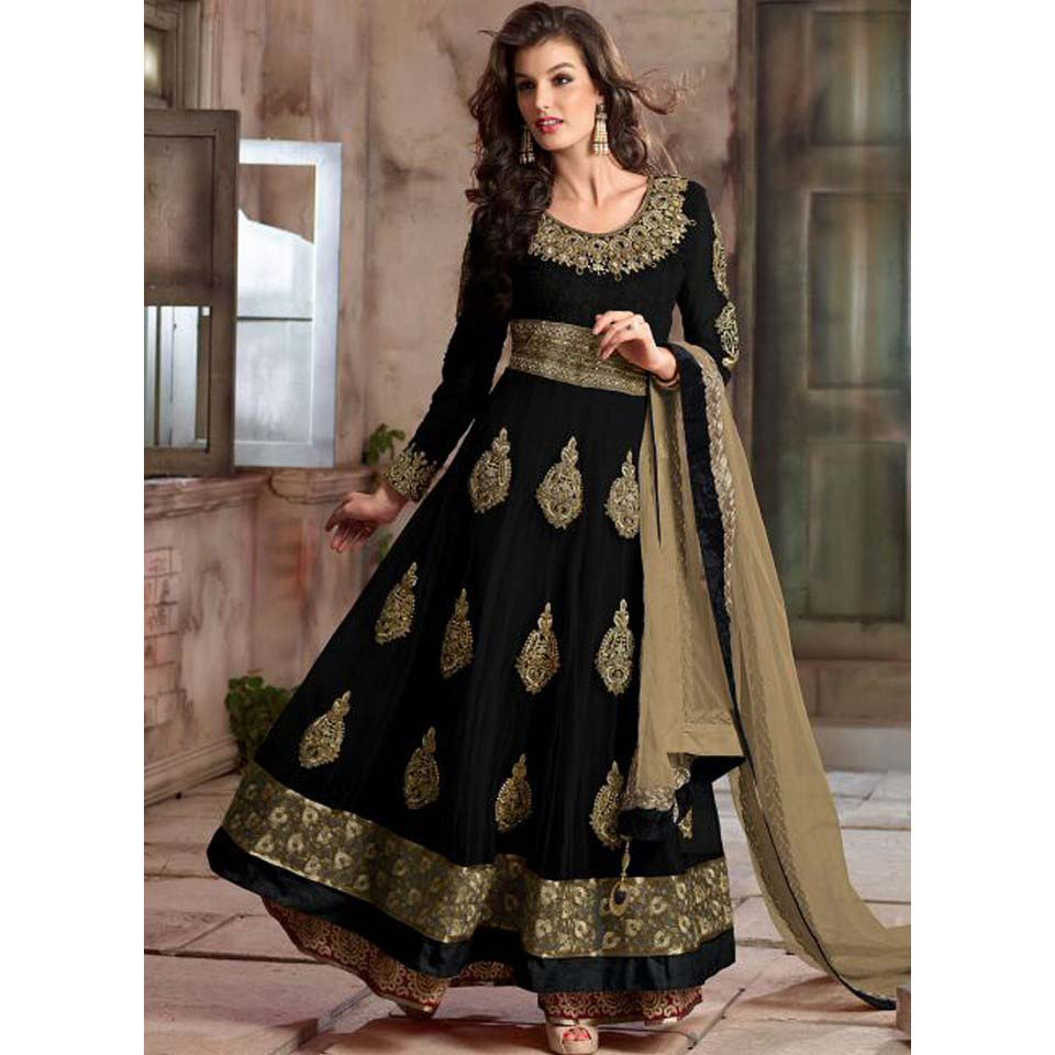 Floor Length Anarkali Frocks & Suits Collection 2016-2107 (3)