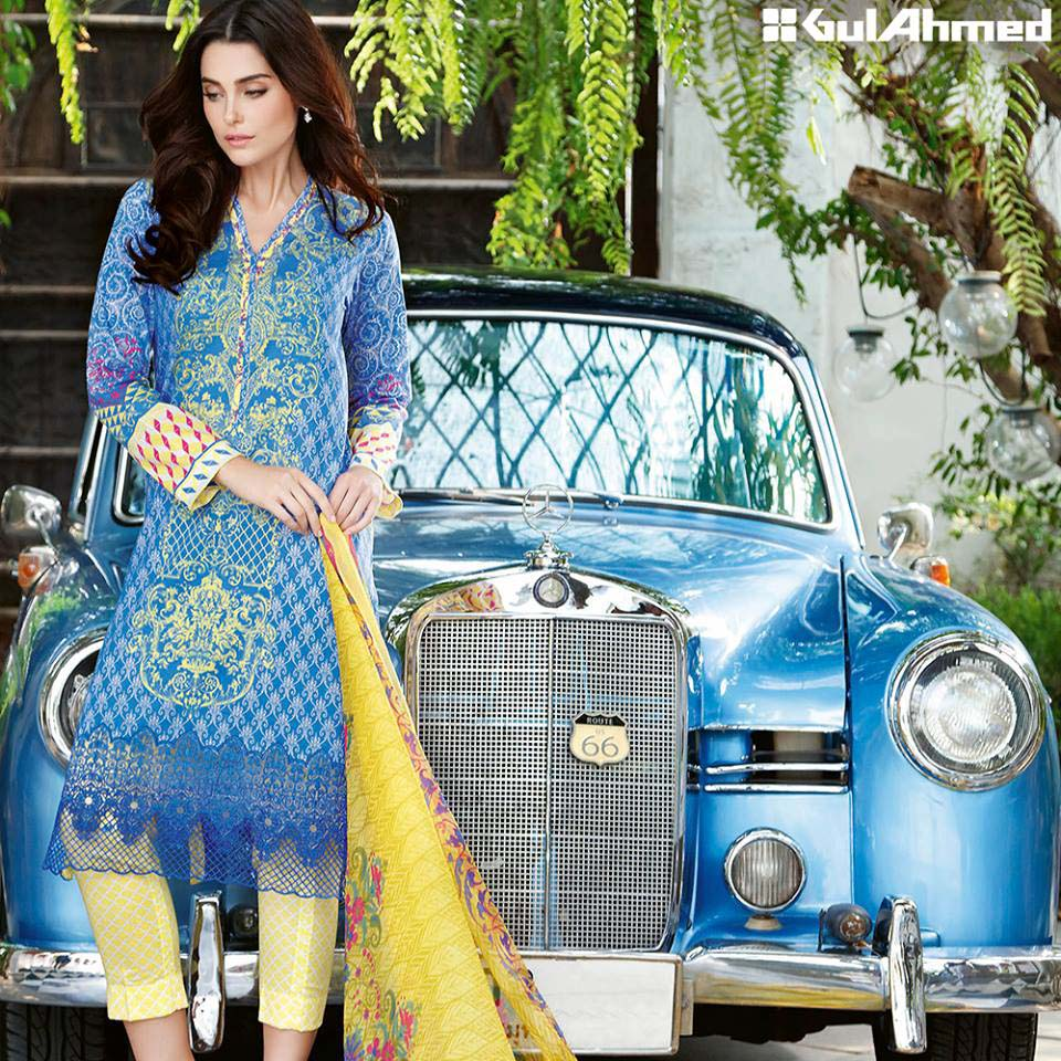 Gul Ahmed Festive Eid 2016 Embroidered Chiffon Collection (11)
