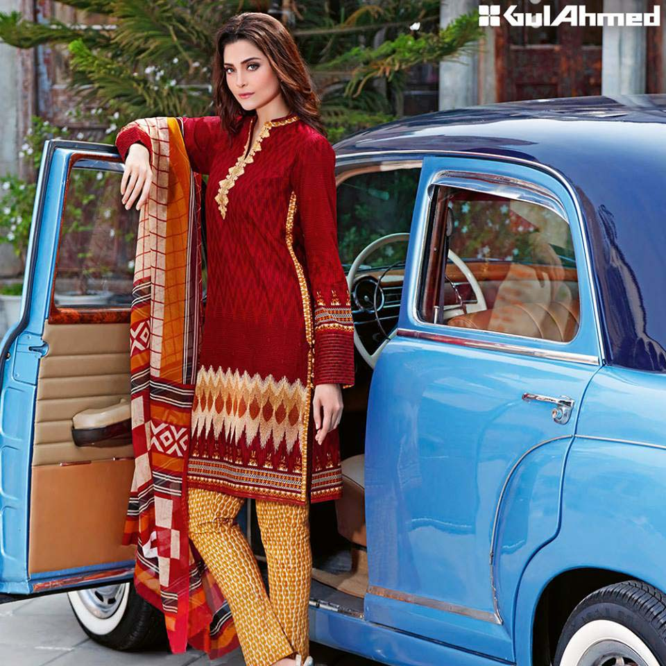 Gul Ahmed Festive Eid 2016 Embroidered Chiffon Collection (12)