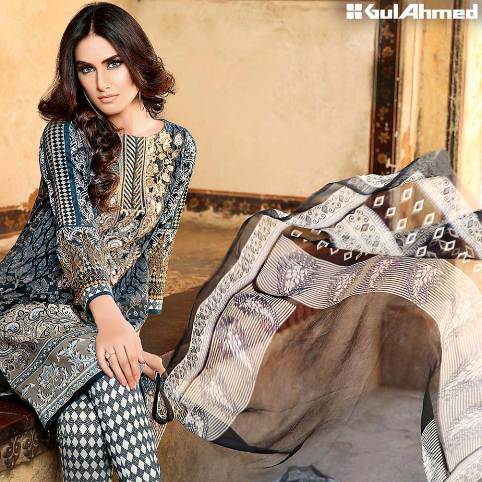 Gul Ahmed Festive Eid 2016 Embroidered Chiffon Collection (4)