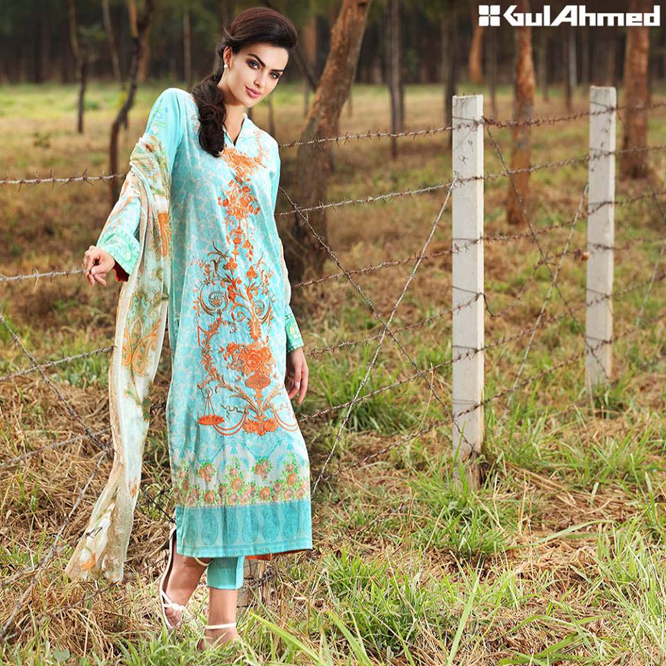 Gul Ahmed Festive Eid 2016 Embroidered Chiffon Collection (5)