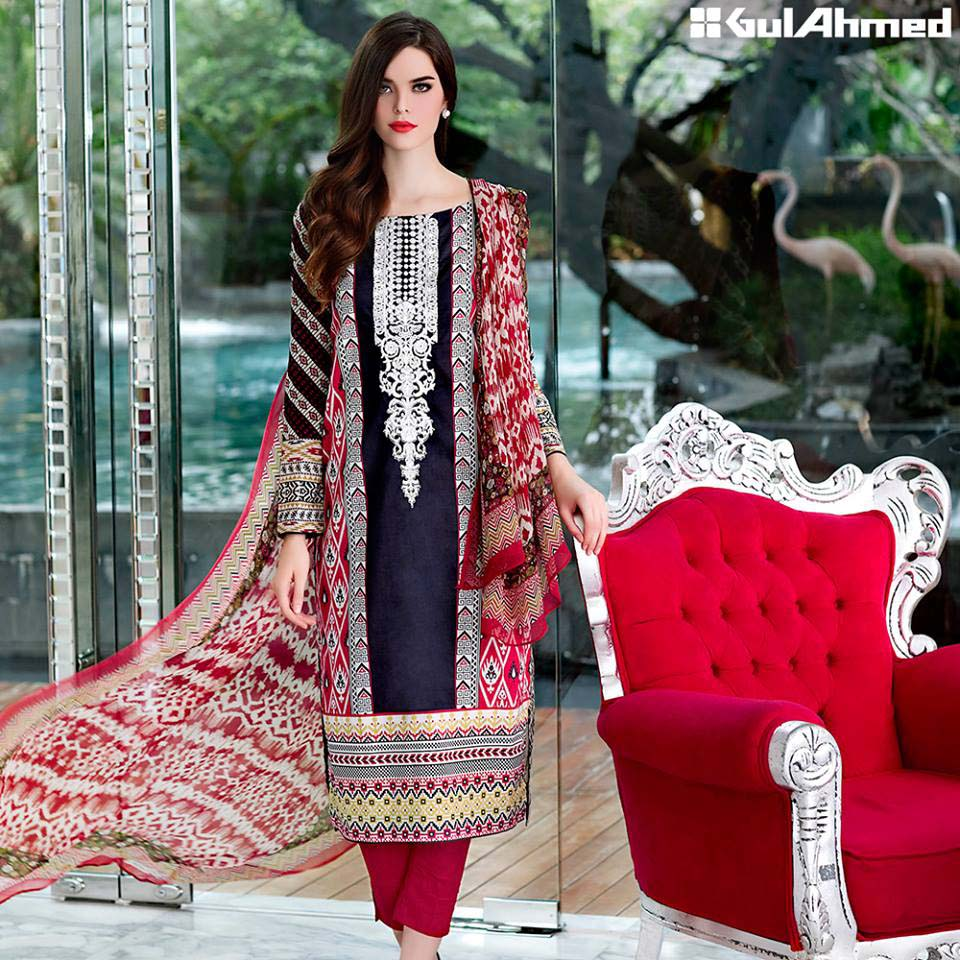 Gul Ahmed Festive Eid 2016 Embroidered Chiffon Collection (6)