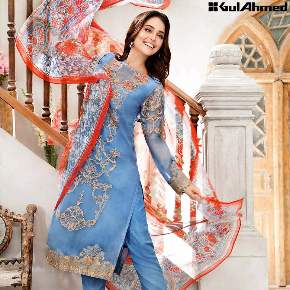 Gul Ahmed Festive Eid 2016 Embroidered Chiffon Collection (9)