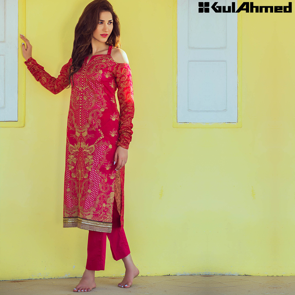 Gul Ahmed Festive Eid 2016 Embroidered Singles Collection (1)