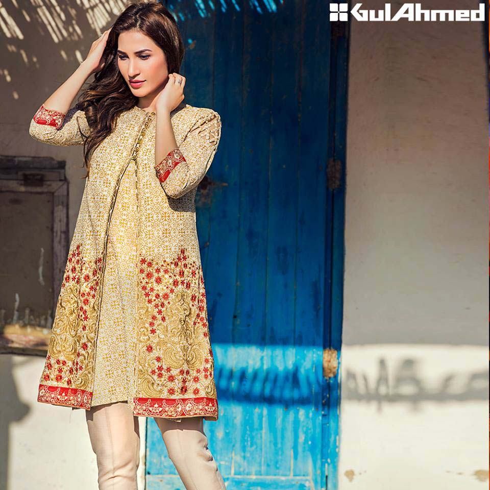 Gul Ahmed Festive Eid 2016 Embroidered Singles Collection (5)