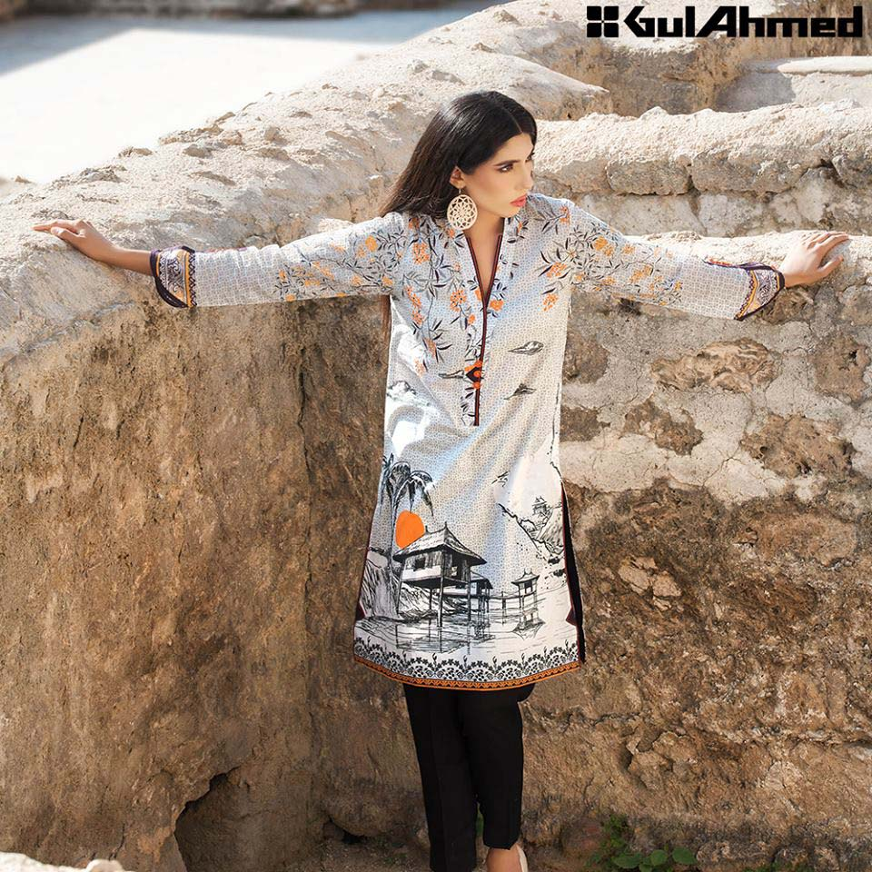 Gul Ahmed Festive Eid 2016 Single Shirts Collection (15)