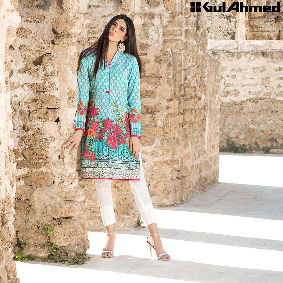 Gul Ahmed Festive Eid 2016 Single Shirts Collection (16)