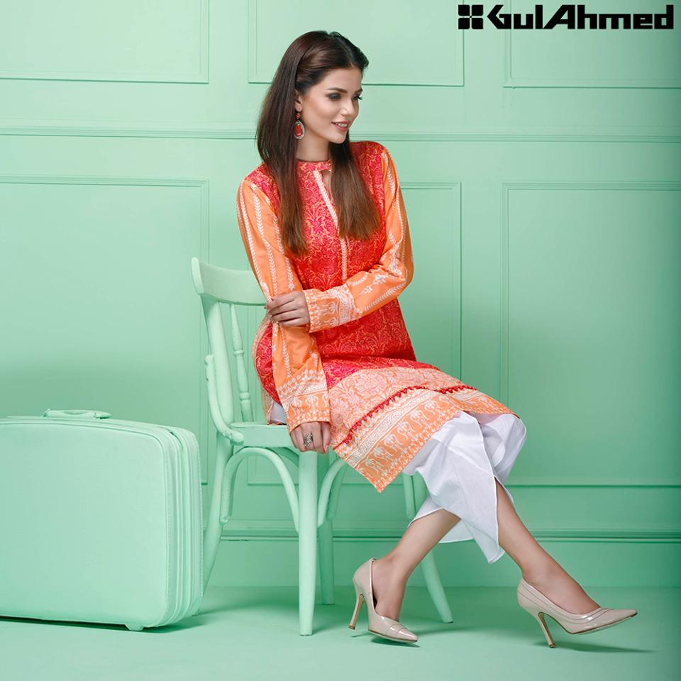Gul Ahmed Festive Eid 2016 Single Shirts Collection (6)