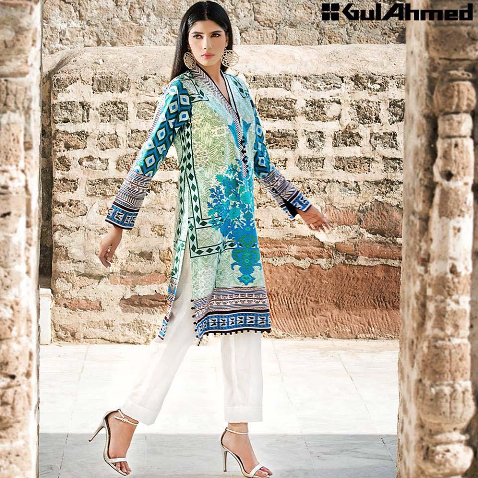 Gul Ahmed Festive Eid 2016 Single Shirts Collection (8)