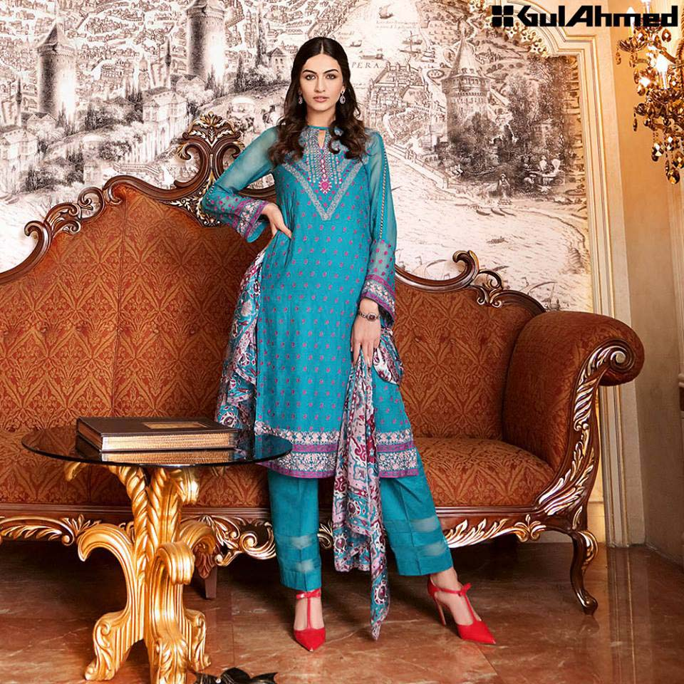 Gul Ahmed Festive Eid 2016 Trencia Satin Silk Collection (10)