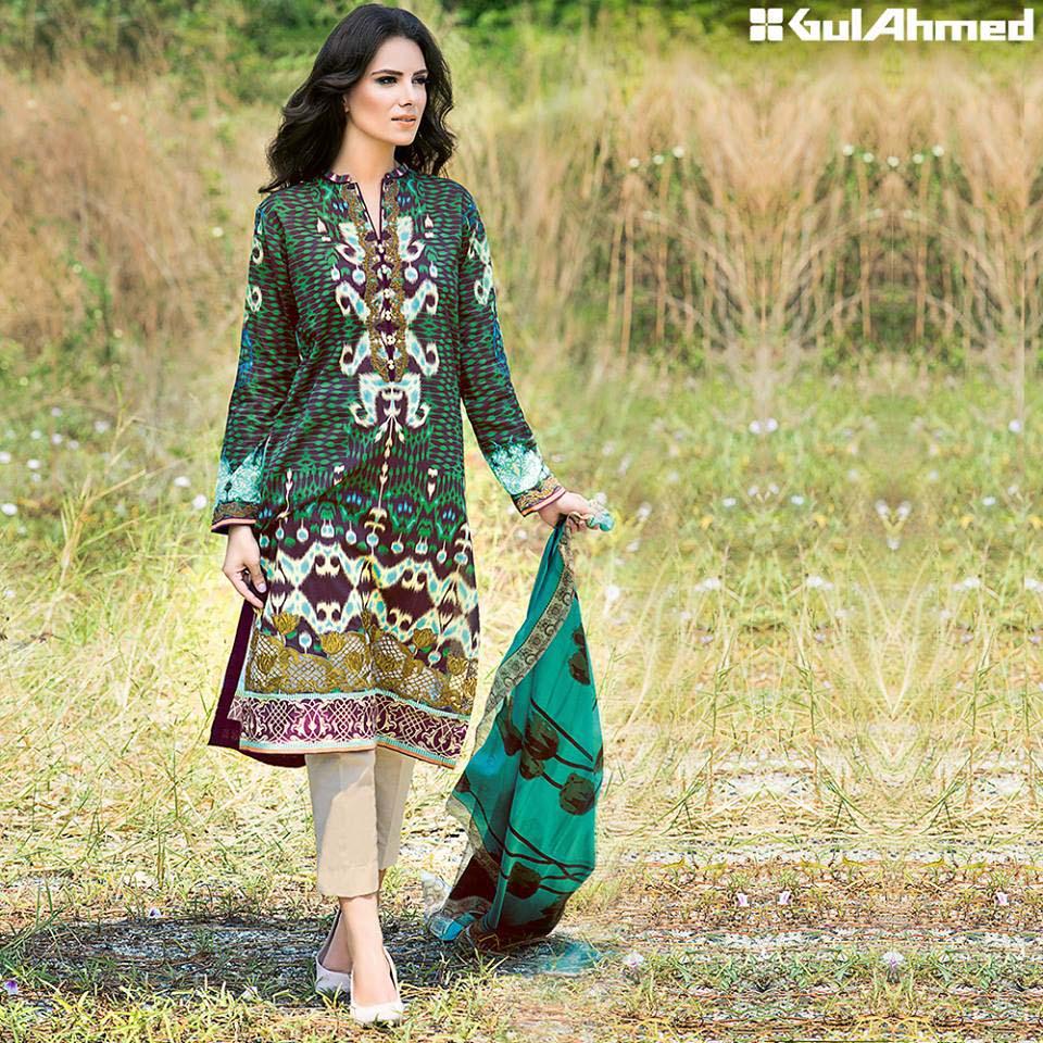 Gul Ahmed Festive Eid 2016 Trencia Satin Silk Collection (15)