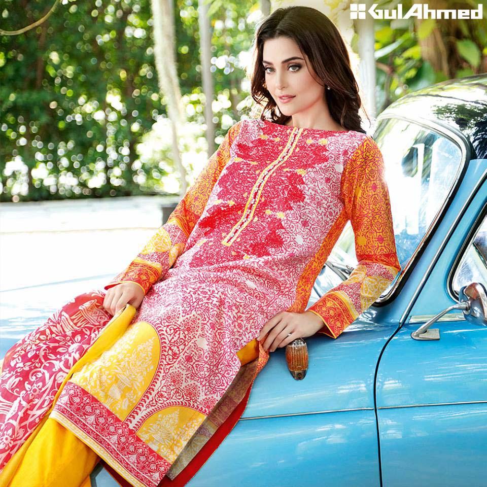 Gul Ahmed Festive Eid 2016 Trencia Satin Silk Collection (4)