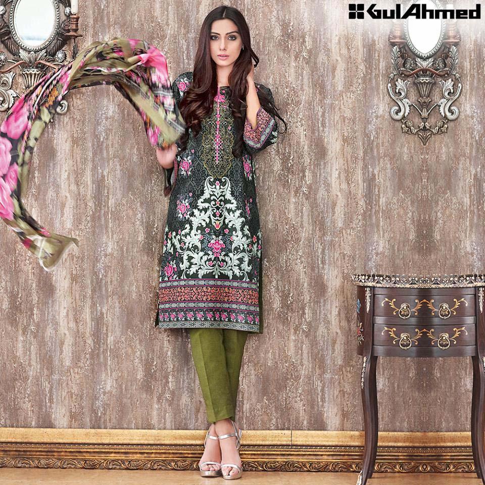 Gul Ahmed Festive Eid 2016 Trencia Satin Silk Collection (5)