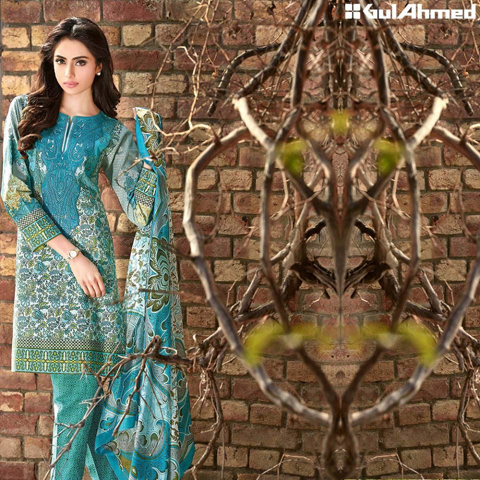 Gul Ahmed Festive Eid 2016 Trencia Satin Silk Collection (8)