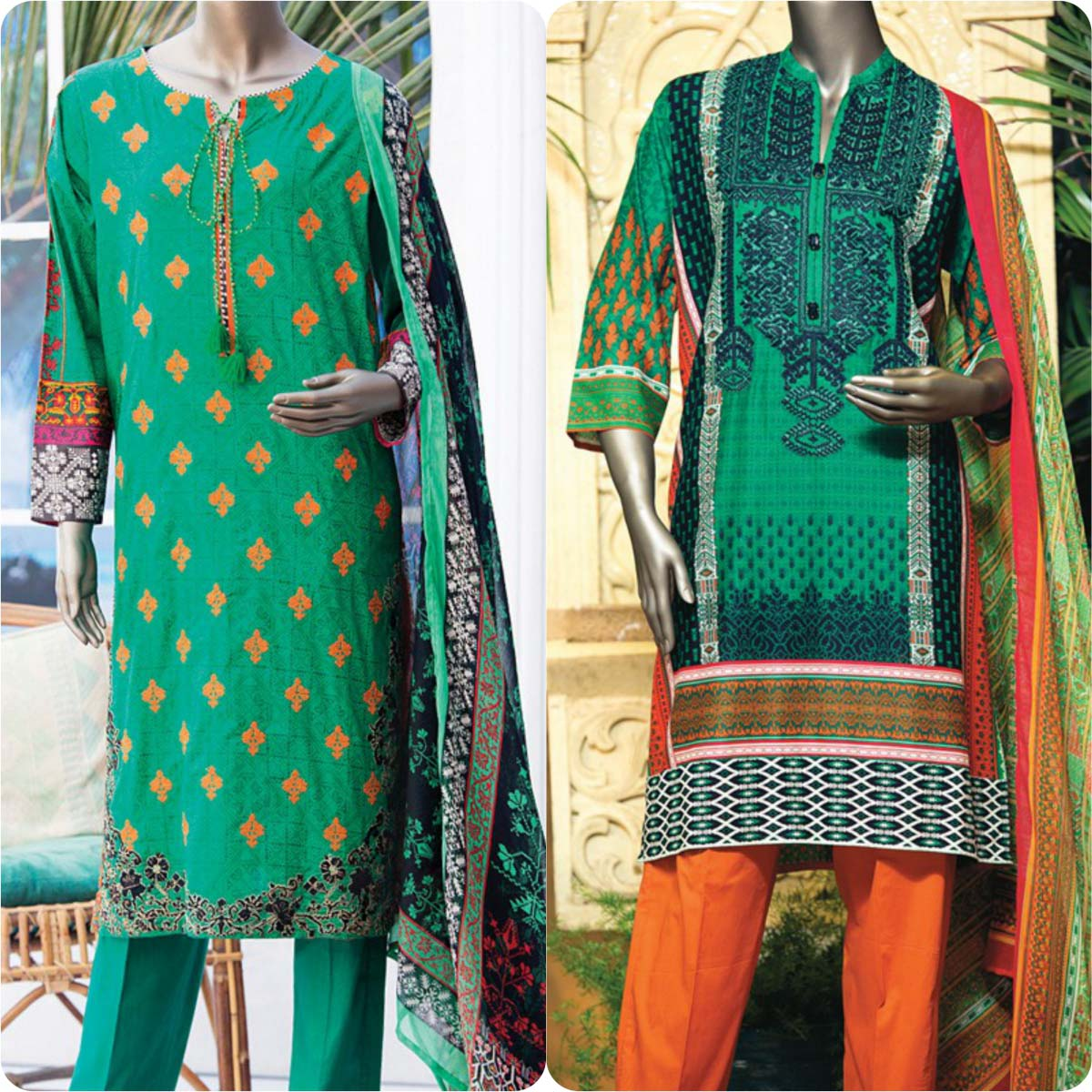 Junaid Jamshed Embrodiered Lawn Festive Eid Collection 2016-2017 (13)