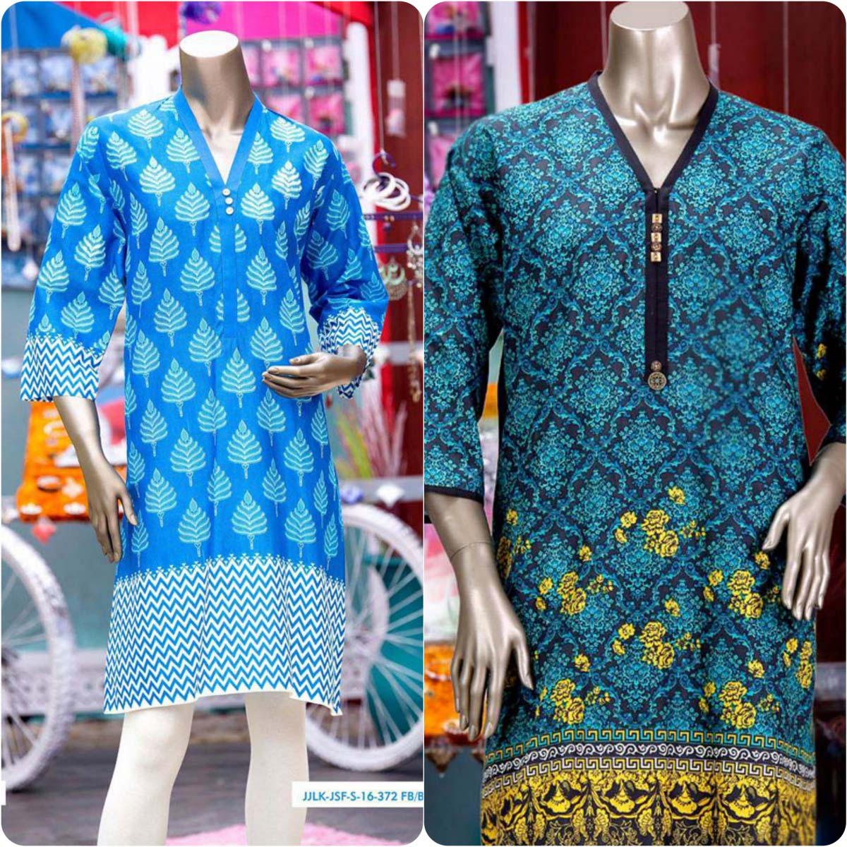 Junaid Jamshed embroidered suits 2016