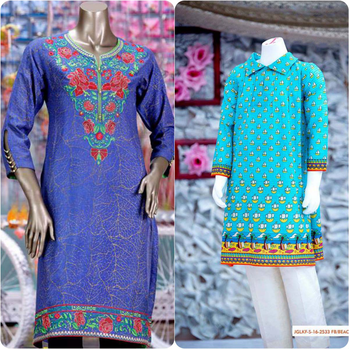 Junaid Jamshed Embrodiered Lawn Festive Eid Collection 2016-2017 (25)