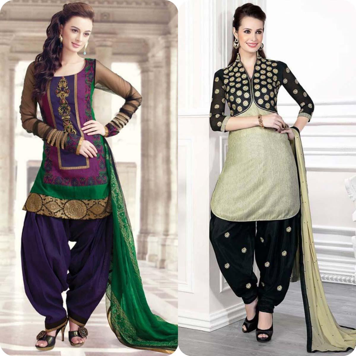 Latest Pakistani and Indian Patiala Shalwar Kameez Suits Designs (13)