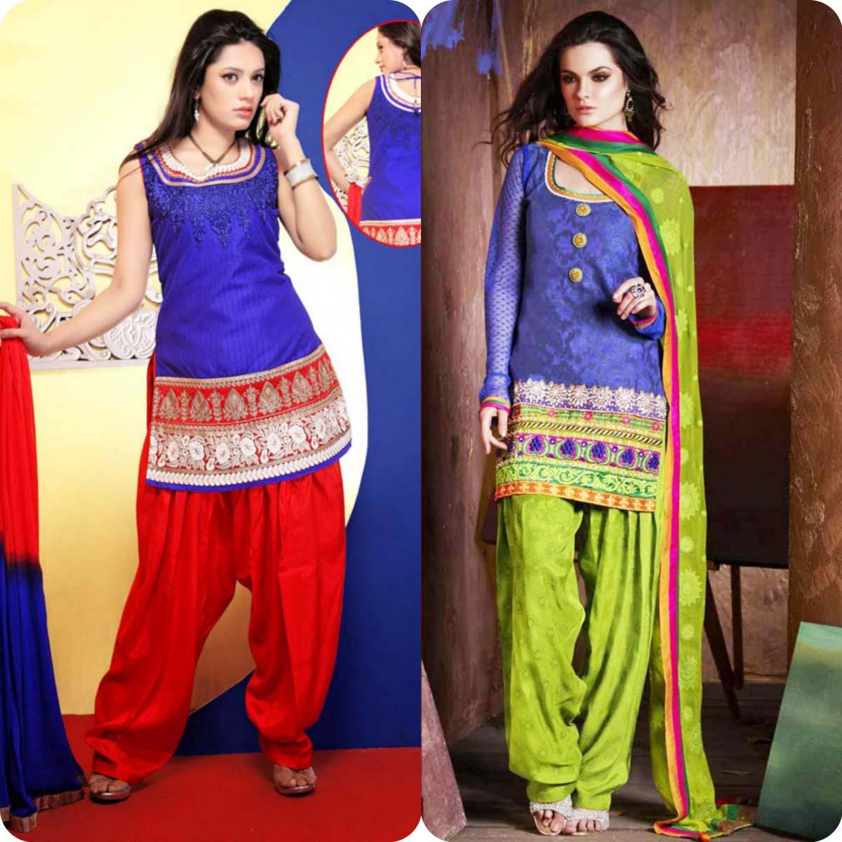 Latest Pakistani and Indian Patiala Shalwar Kameez Suits Designs (14)