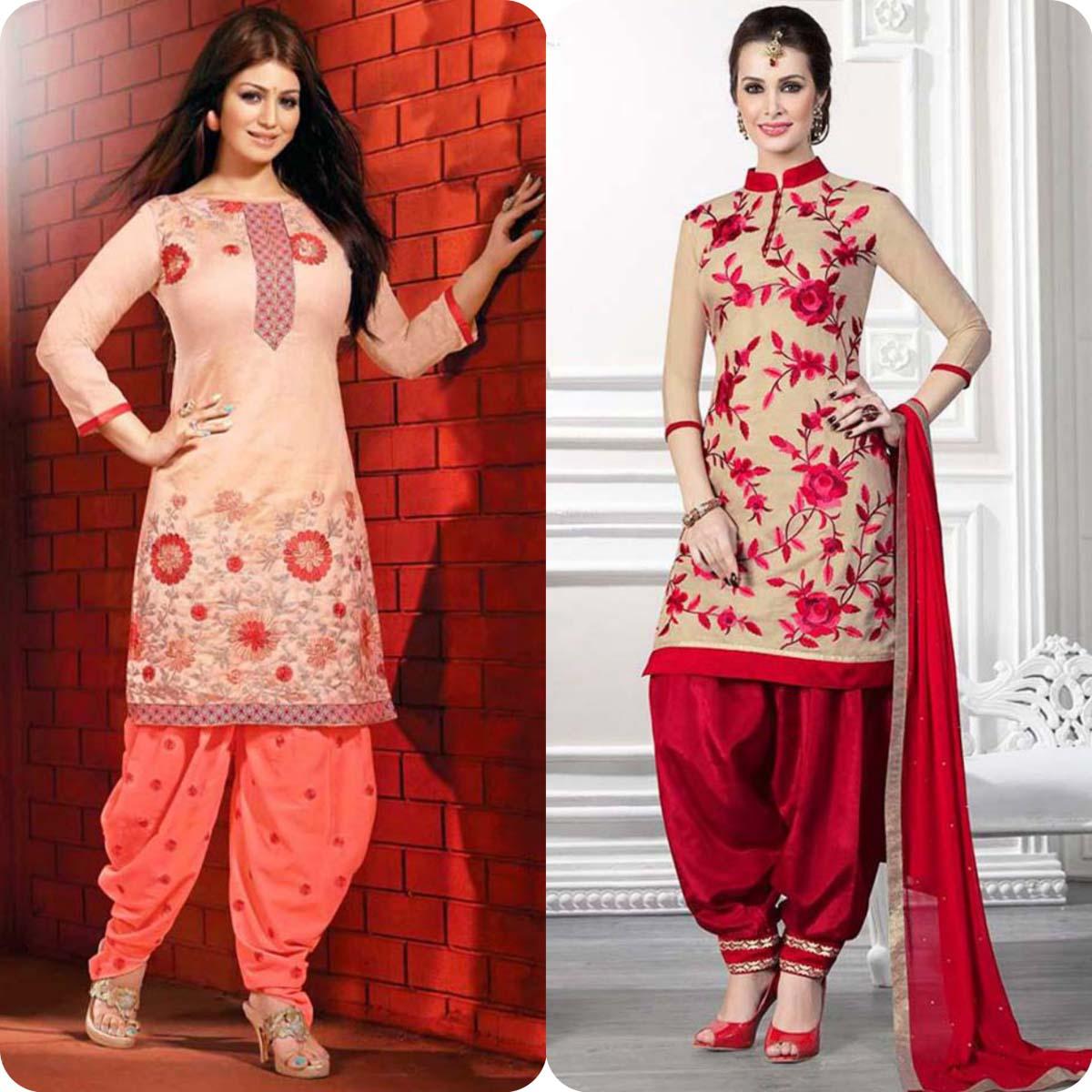 Latest Pakistani and Indian Patiala Shalwar Kameez Suits Designs (2)