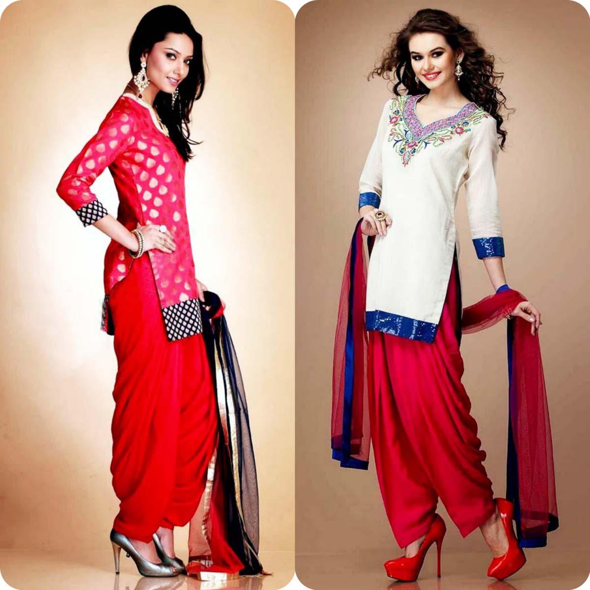 Latest Pakistani and Indian Patiala Shalwar Kameez Suits Designs (7)