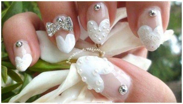 Best Bridal Nail Art Ideas For Wedding Brides 2016-2017 (3)