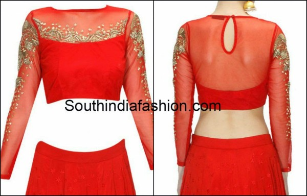 Boat Neck Style With Transparent Neckline & Sleeves (2)