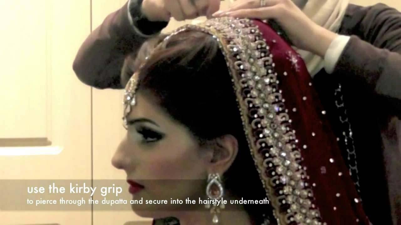 How To Set Bridal Dupatta Draping Style of Bridal Dupatta (26)