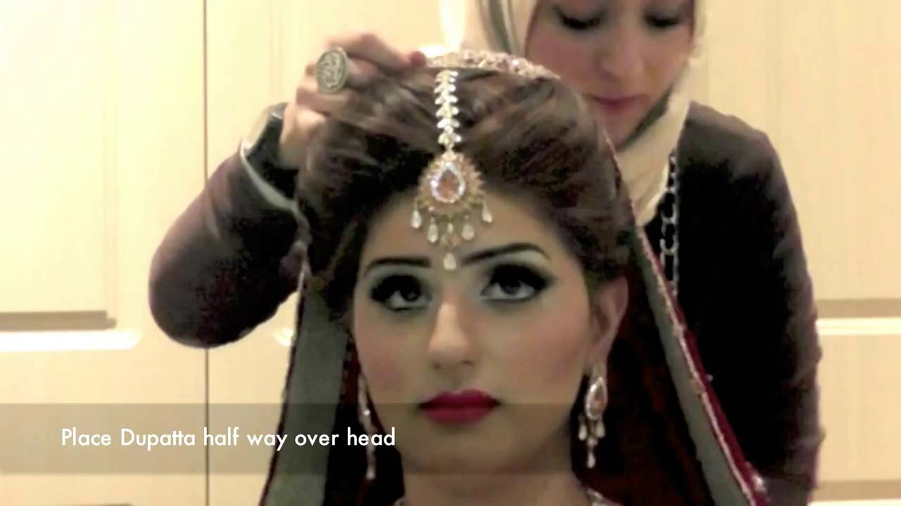 tutorial to set bridal dupatta in stylish way | stylo planet