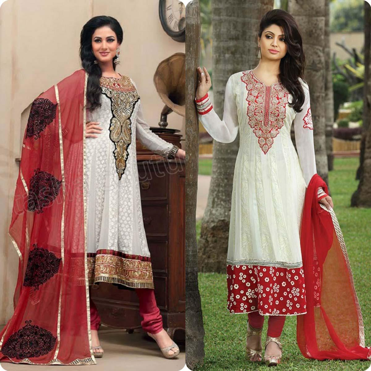 Indian Stylish Umbrella Frock and Churidar Dresses for Girls 2016-2017 (13)