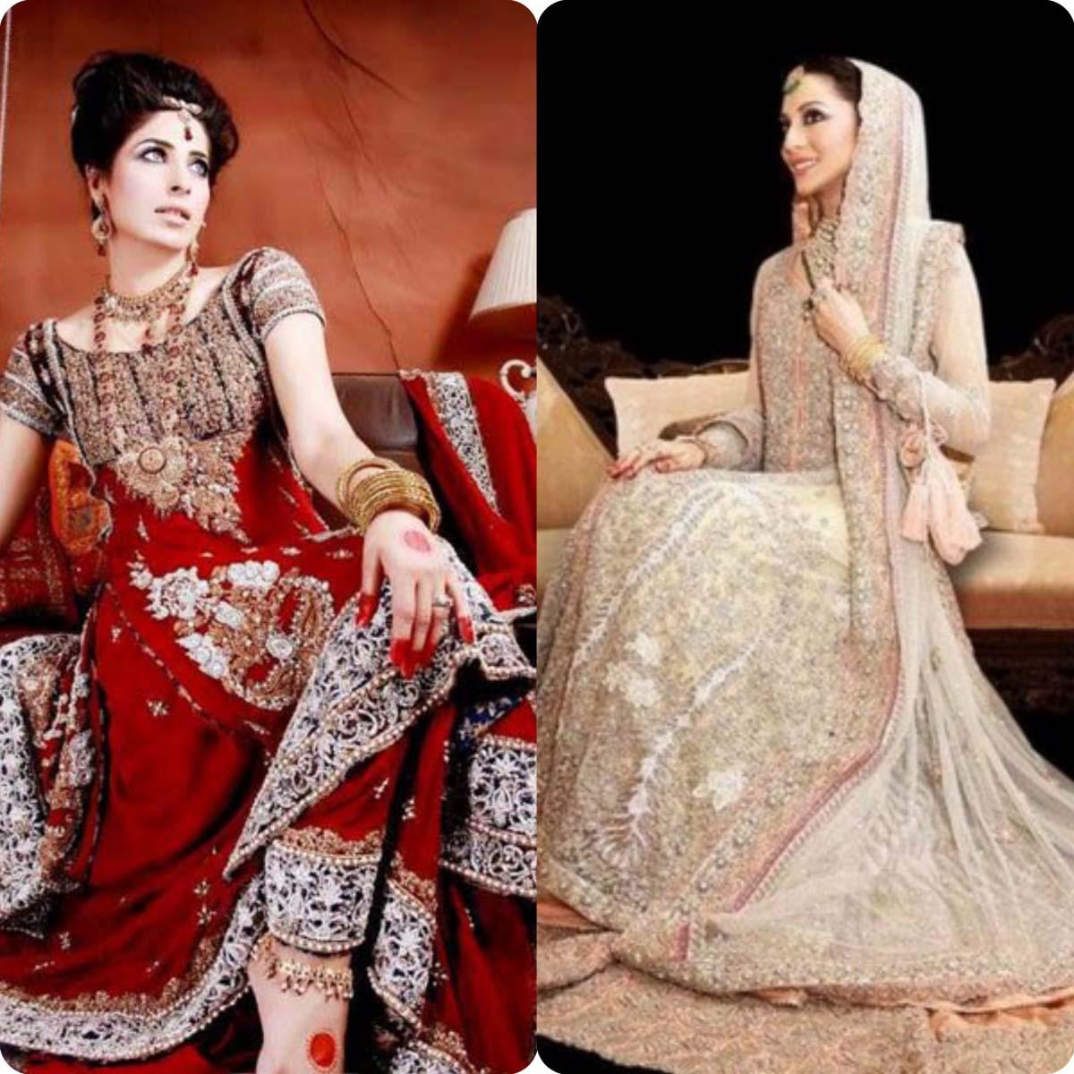 Latest Bridal Sharara Dresses Designs Collection for Wedding Brides 2016-2017