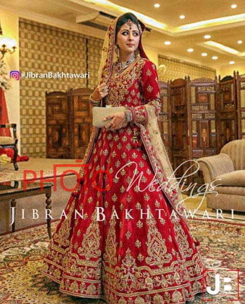 Beautiful Bridal Barat Dresses Designs Collection 2016-2017 for Wedding Brides (34)