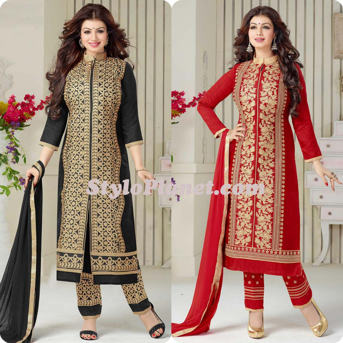 Latest Straight Pant Suits Dresses Design Collection for Women 2016-2017 (12)