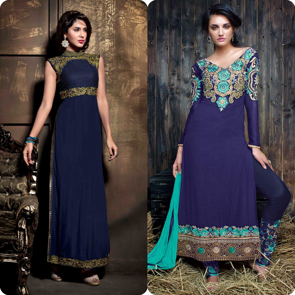 Latest Straight Pant Suits Dresses Design Collection for Women 2016-2017 (13)