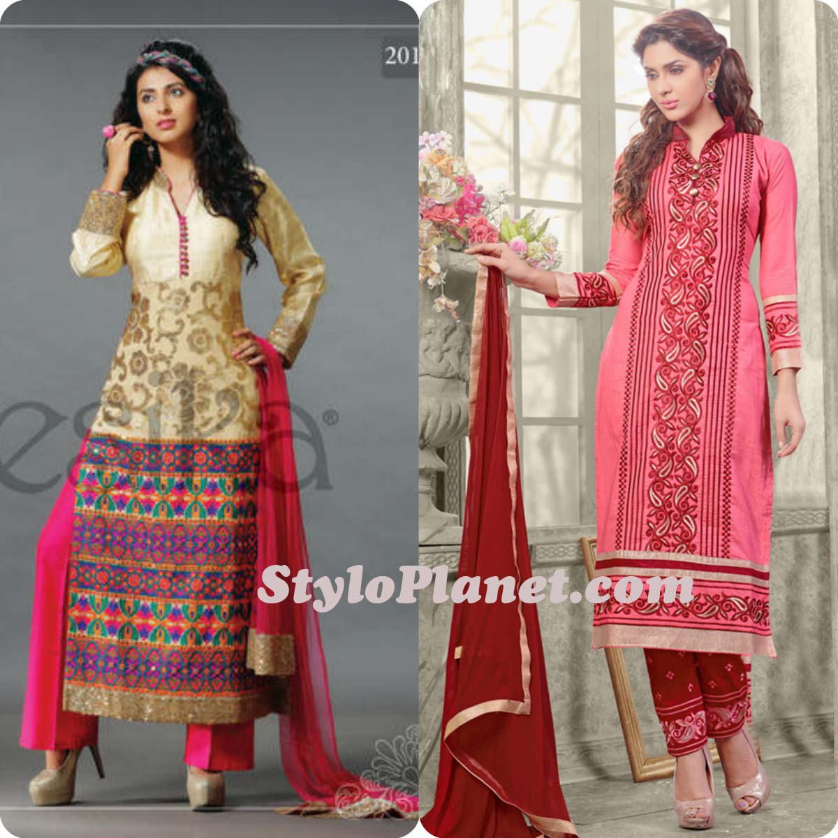 Latest Straight Pant Suits Dresses Design Collection for Women 2016-2017 (16)