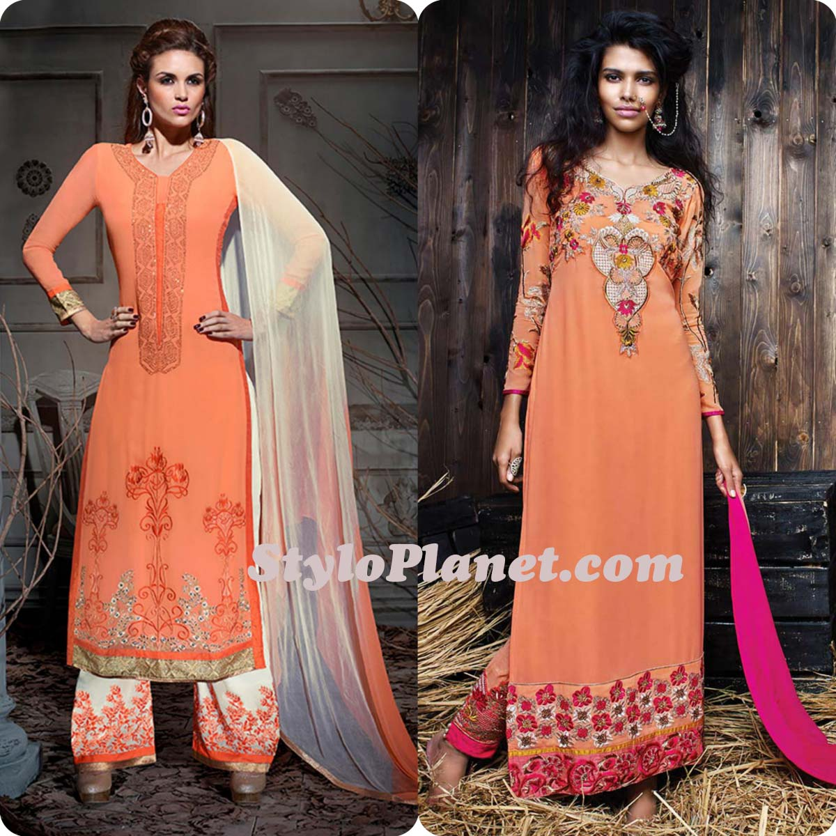 Latest Straight Pant Suits Dresses Design Collection for Women 2016-2017 (18)