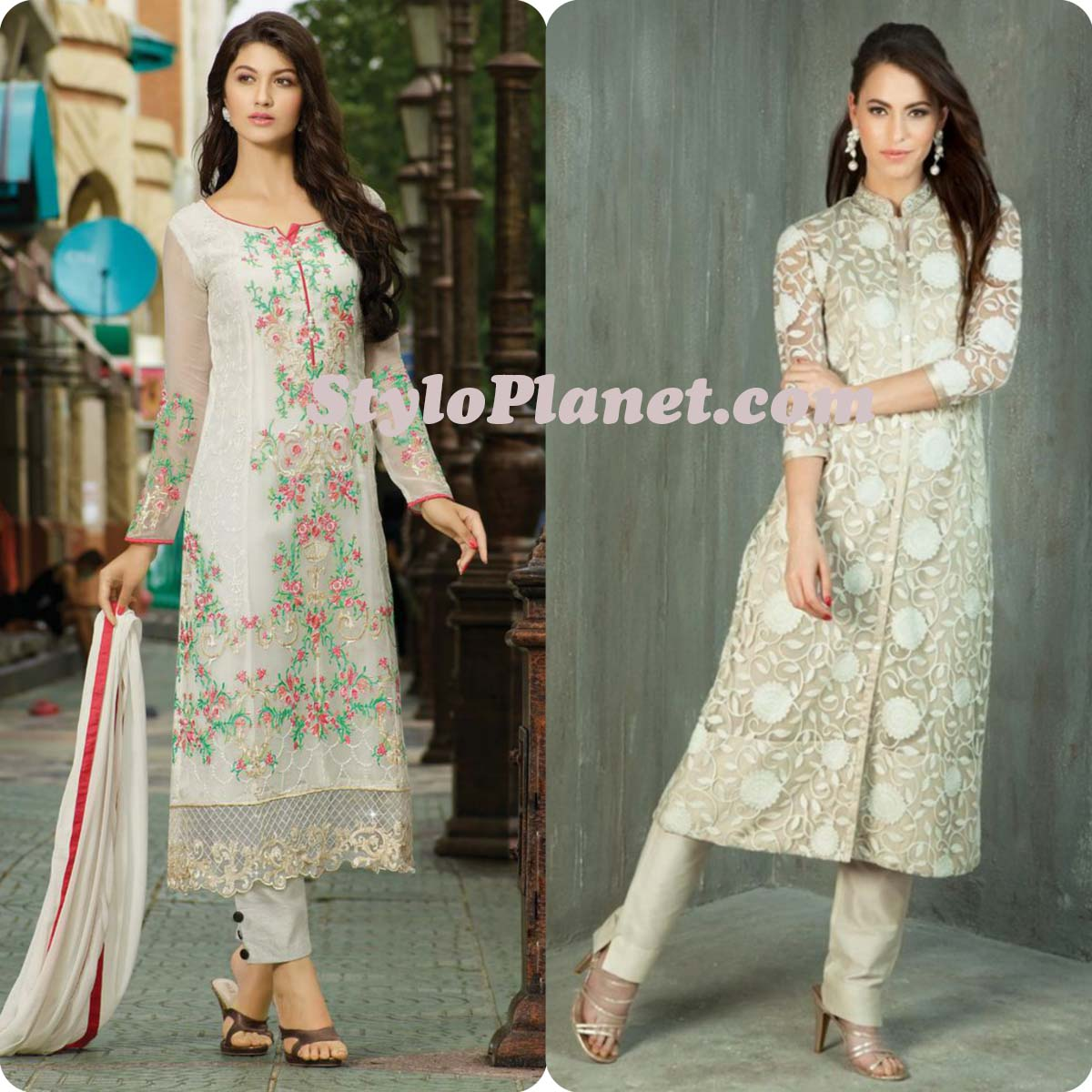 Latest Straight Pant Suits Dresses Design Collection for Women 2016-2017 (21)