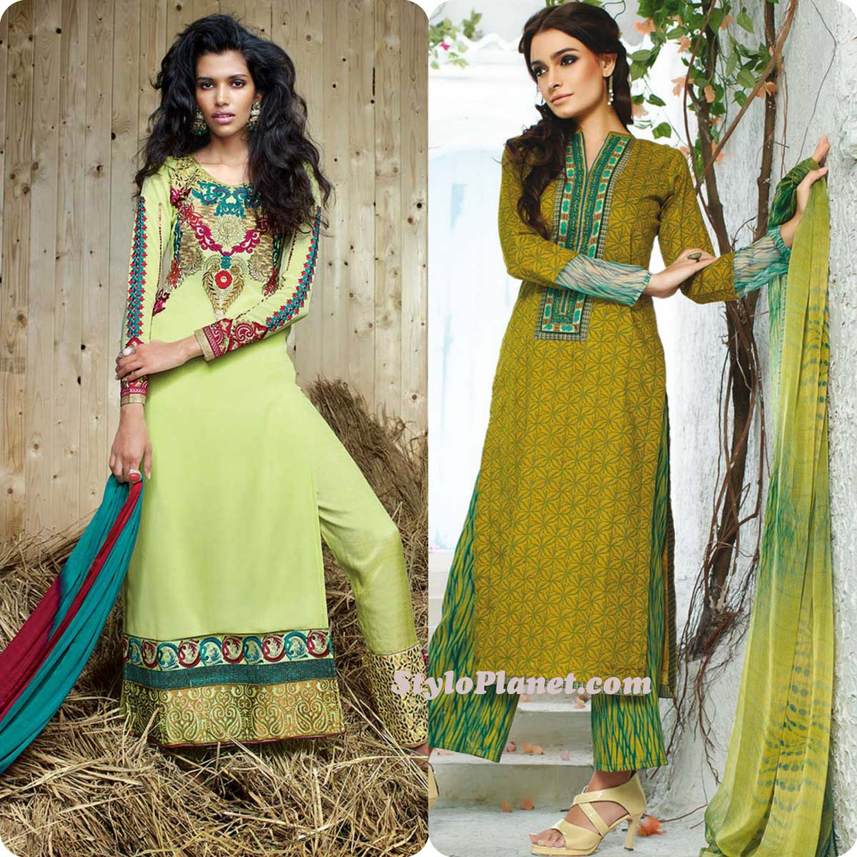 Latest Straight Pant Suits Dresses Design Collection for Women 2016-2017 (23)