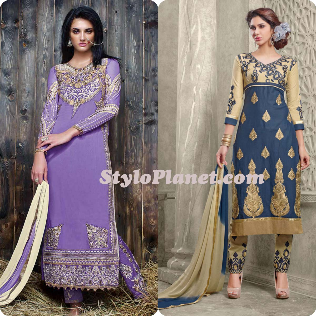 Latest Straight Pant Suits Dresses Design Collection for Women 2016-2017 (28)
