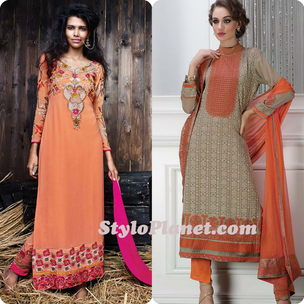 Latest Straight Pant Suits Dresses Design Collection for Women 2016-2017 (29)