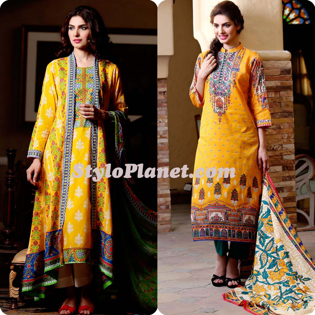 Latest Straight Pant Suits Dresses Design Collection for Women 2016-2017 (4)