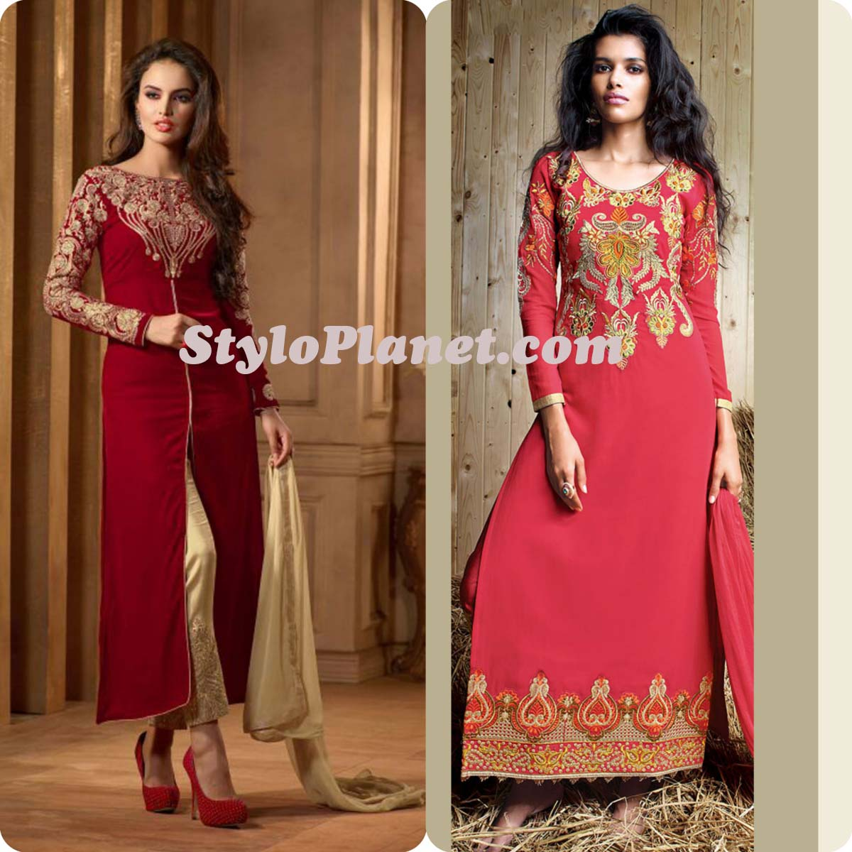 Latest Straight Pant Suits Dresses Design Collection for Women 2016-2017 (5)