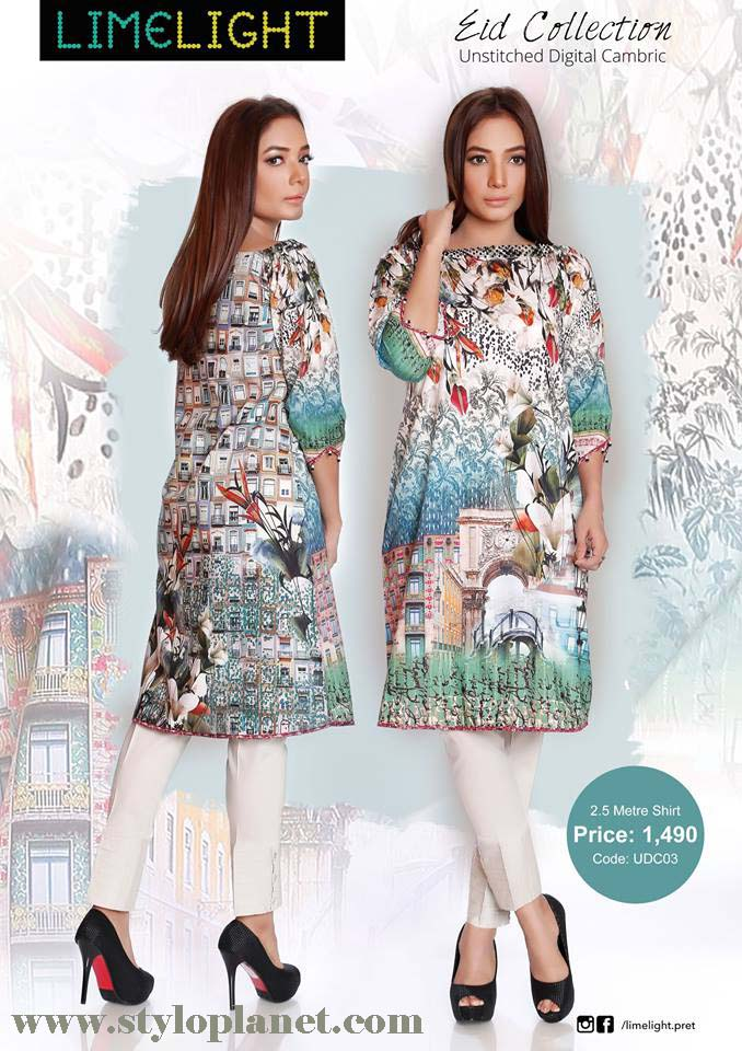 Limelight Unstitched Digital Cambric Eid Collection 2016-2017 (10)
