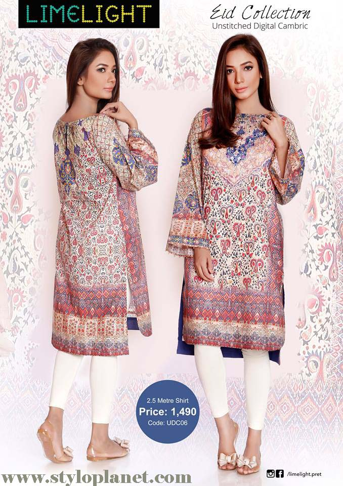Limelight Unstitched Digital Cambric Eid Collection 2016-2017 (3)