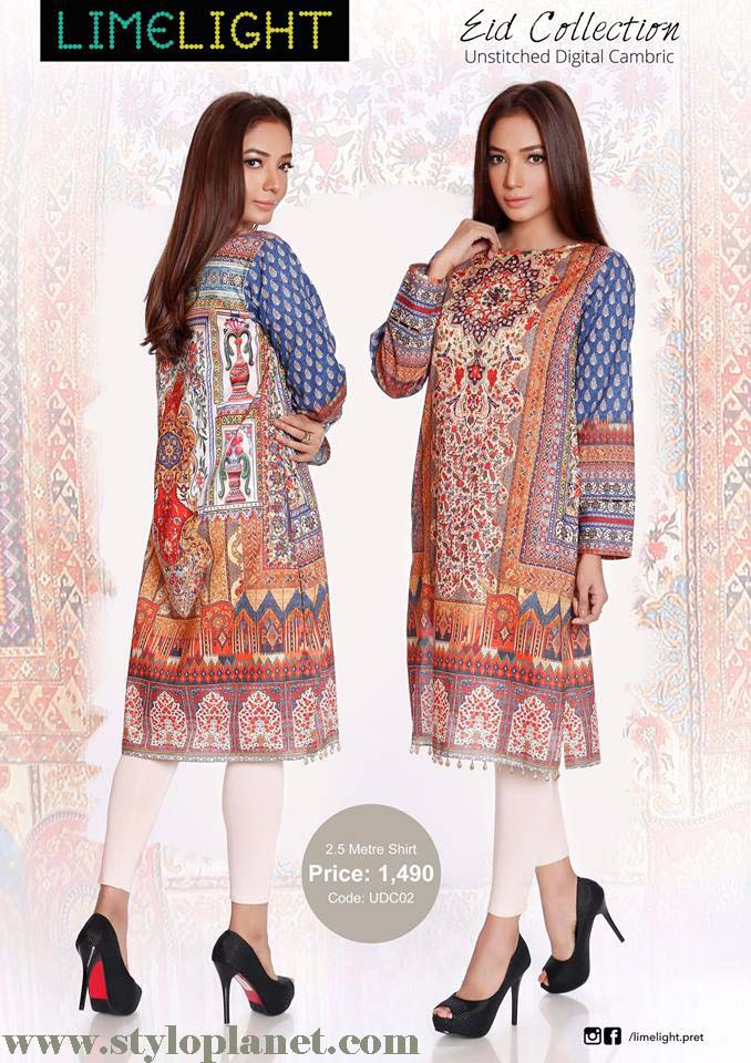 Limelight Unstitched Digital Cambric Eid Collection 2016-2017 (5)