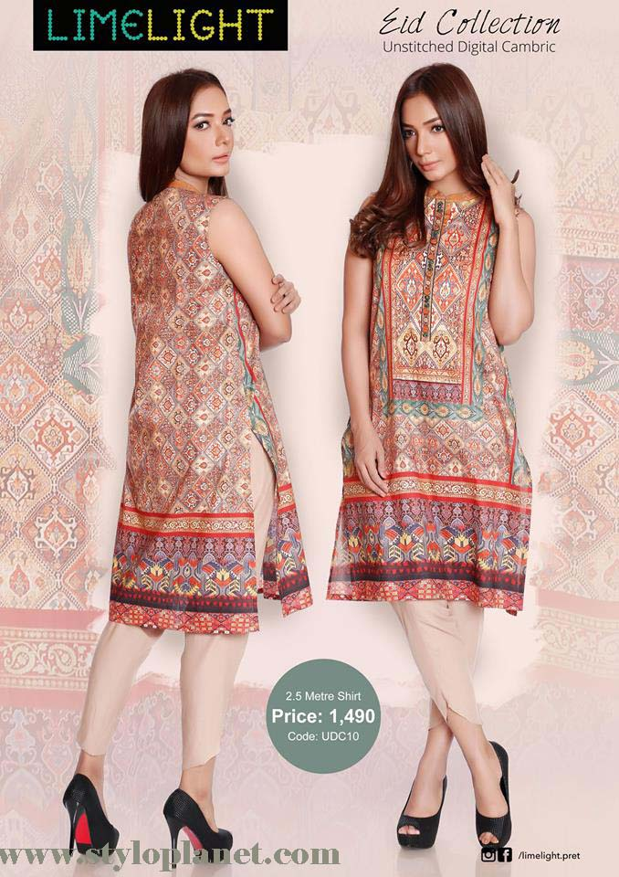 Limelight Unstitched Digital Cambric Eid Collection 2016-2017 (9)