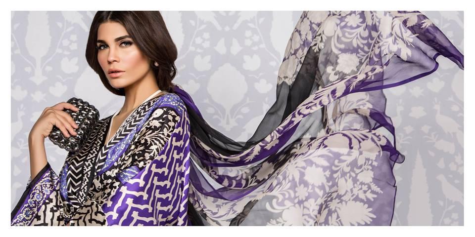 Sana Safinaz Silk Dresses Design for Women 2016-17 Eid Collection (8)