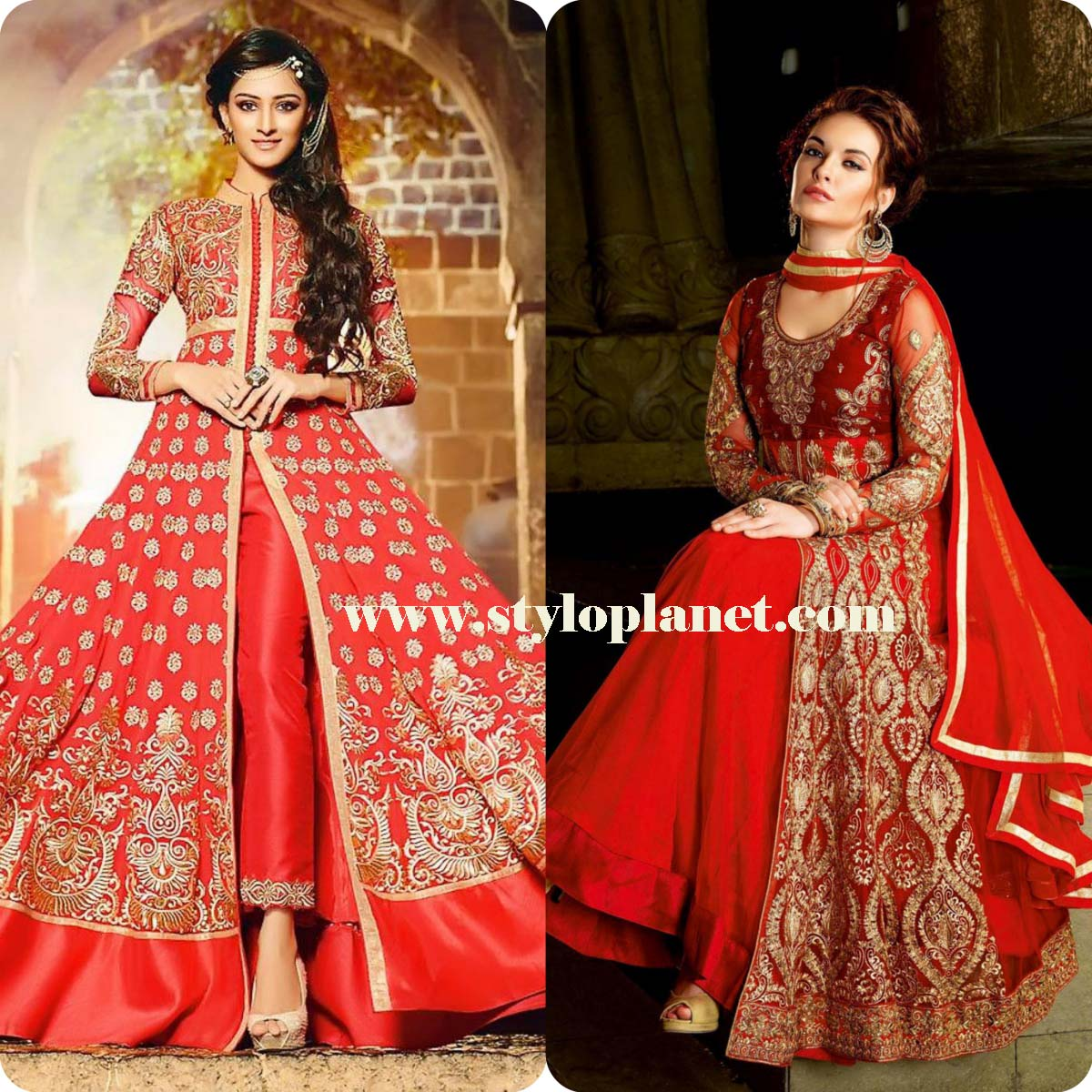 Latest Indian Jacket Style Anarkali Dresses Suits 2016-2017 Collection