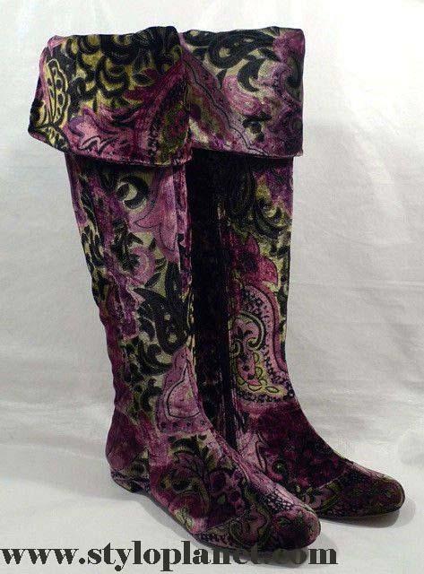 Winter Velvet Boots